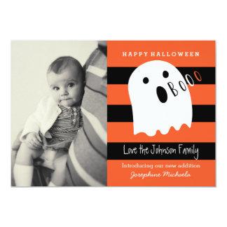 Invitación linda de la foto de Halloween del bebé