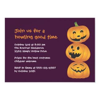Invitación linda de risa de Halloween de la Invitación 12,7 X 17,8 Cm