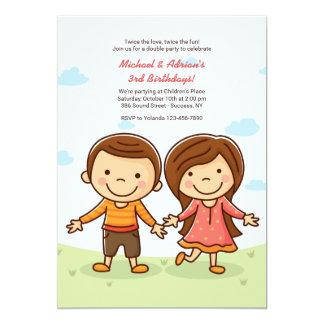 Invitación linda del cumpleaños de los bebés