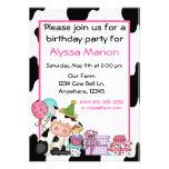 Invitación linda del cumpleaños de los chicas de l