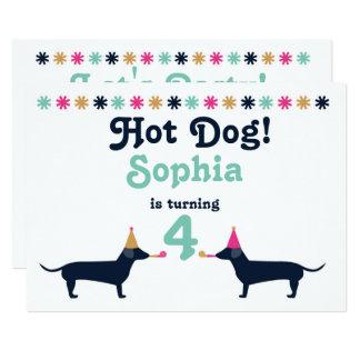 Invitación linda del cumpleaños del perro de la