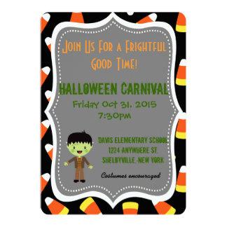 Invitación linda del fiesta de Halloween