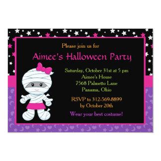 Tarjeta Invitación linda del fiesta de Halloween de la