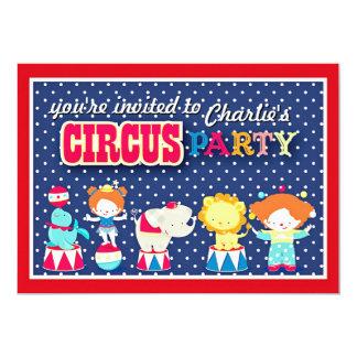 Invitación linda del fiesta del circo