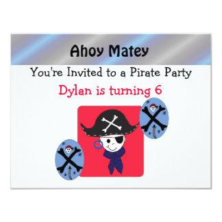 Invitación linda del fiesta del pirata