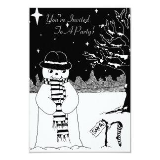 Invitación linda del navidad del ejemplo del