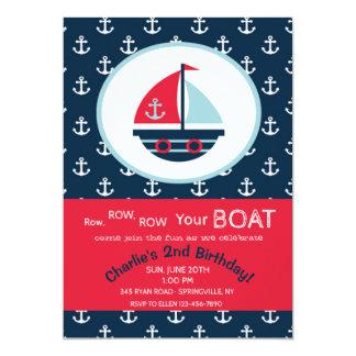 Invitación linda del velero
