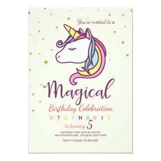Invitación mágica del unicornio