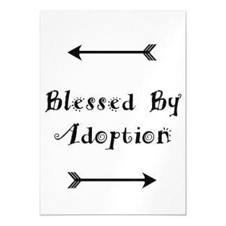 Invitación Magnética Bendecido por la adopción - acogida