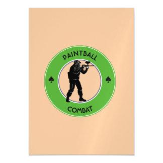 Invitación Magnética Combate de Paintball