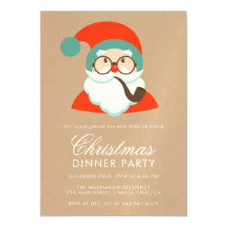 Invitación Magnética Fiesta de Navidad de Santa del inconformista del