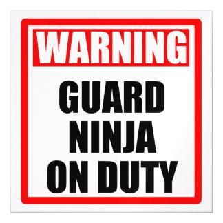 Invitación Magnética Guardia amonestador Ninja de servicio