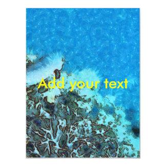 Invitación Magnética Pescados que se mueven sobre el filón