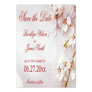 Invitación Magnética Reserva blanca magnética de la flor de cerezo la
