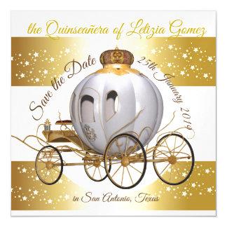 Invitación Magnética Reserva de Quinceanera la princesa Carriage del