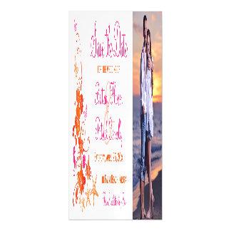 Invitación Magnética Rosa, reserva tropical anaranjada de la playa el