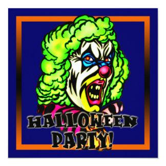 Invitación malvada del fiesta de Halloween del