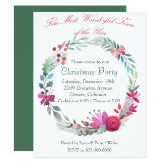 Invitación maravillosa de la fiesta de Navidad de