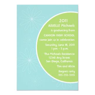 Invitación maravillosa de la graduación - turquesa