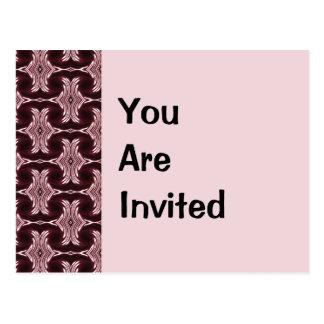 Invitación marrón del art déco postal