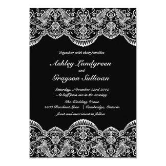 Invitación marroquí blanco y negro del boda del
