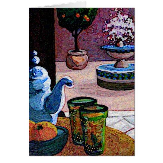 Invitación marroquí de la parte tarjeta pequeña