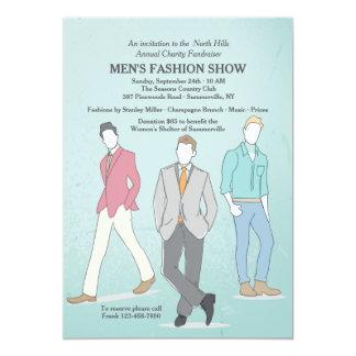 Invitación masculina de los modelos de moda