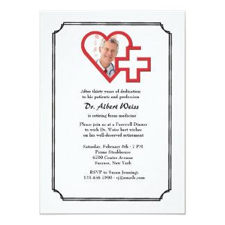 Invitación médica de la foto del fiesta de retiro
