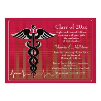 Invitación médica de la graduación del caduceo