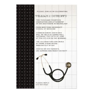 Invitación médica de la graduación del médico