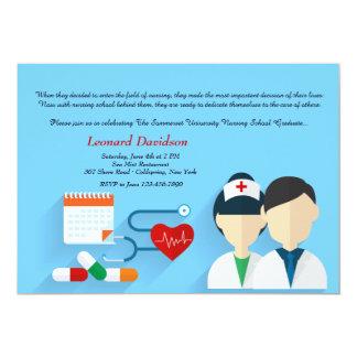 Invitación médica de la graduación del personal