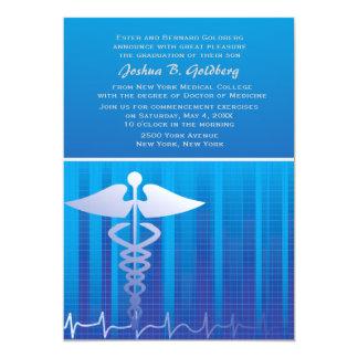 Invitación médica del gráfico invitación 12,7 x 17,8 cm