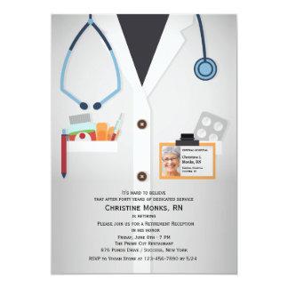 Invitación médica del retiro de la foto del invitación 12,7 x 17,8 cm