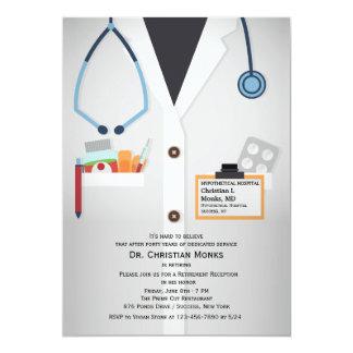 Invitación médica del retiro del personal invitación 12,7 x 17,8 cm