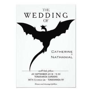 Invitación medieval mínima moderna del boda del