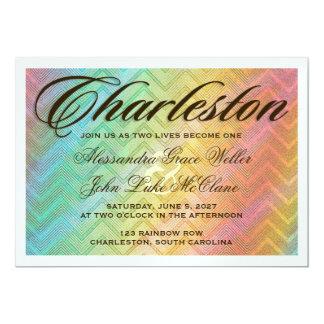Invitación metálica de plata del destino de invitación 12,7 x 17,8 cm