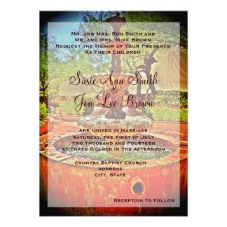 Invitación mexicana al sudoeste del boda de la fue
