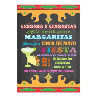 Invitación mexicana de Cinco de Mayo de la fiesta