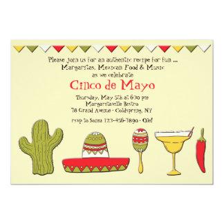 Invitación mexicana de Cinco de Mayo de los iconos