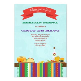 Invitación mexicana de la comida