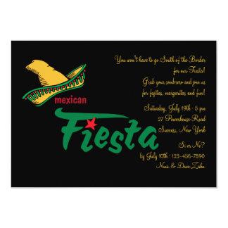 Invitación mexicana de la fiesta