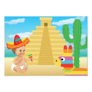 Invitación mexicana de la fiesta de bienvenida al