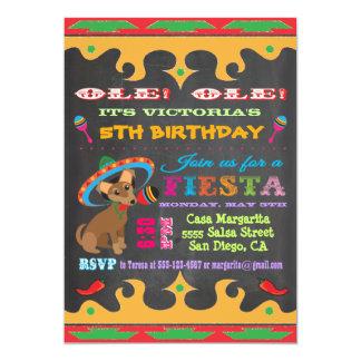 Invitación mexicana de la fiesta de cumpleaños de