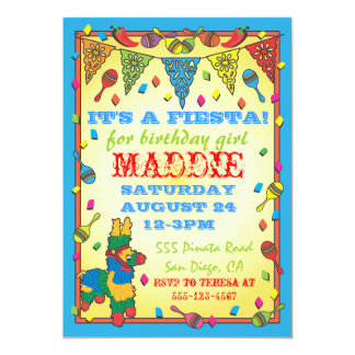 Invitación mexicana de la fiesta de cumpleaños del
