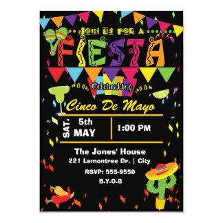 Invitación mexicana de la parte de Cinco De Mayo Invitación 12,7 X 17,8 Cm