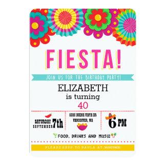 Invitación mexicana de la parte de la fiesta