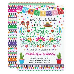Invitación Mexicana Del Cactus De La Fiesta De