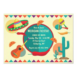 Invitación mexicana del fiesta de Cinco de Mayo