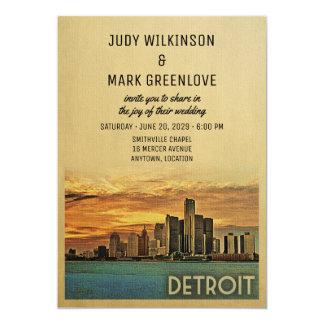 Invitación Michigan del boda de Detroit