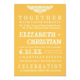 Invitación-miel del boda de Bill del teatro del Invitación 12,7 X 17,8 Cm
